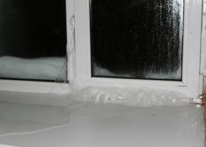 Проблемы промерзания окна
