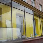 Установка витринных стеклопакетов