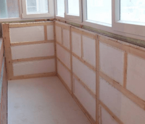 Утепление балконов и лоджий изнутри